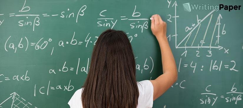 Blackboard of Math Class