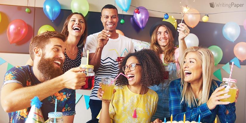 Friends Celebrating Birthday