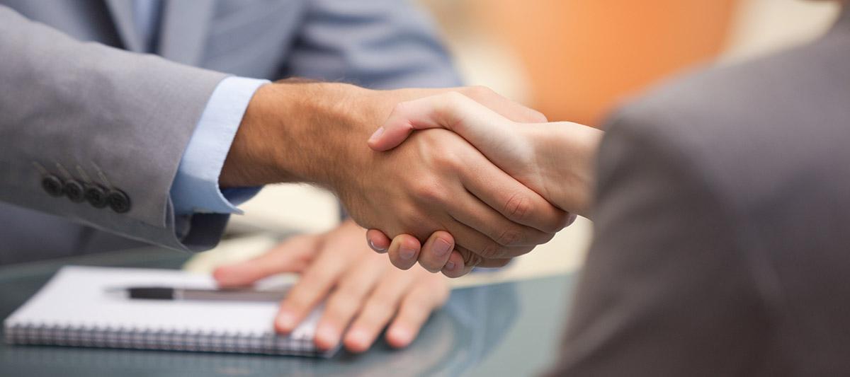 Handshake, people greeting