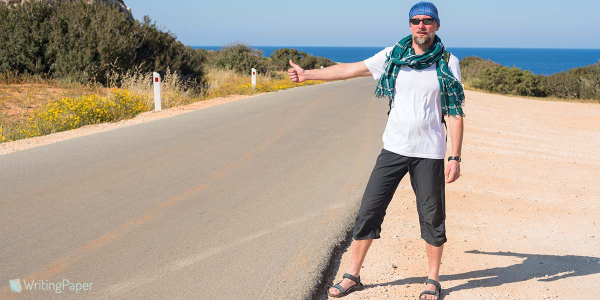 Hitchhiking on Road