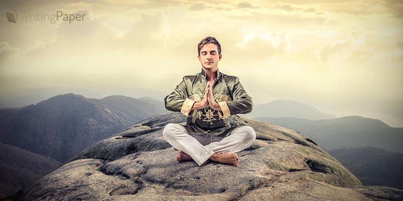A Meditating Samurai