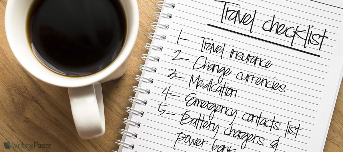 a travel list